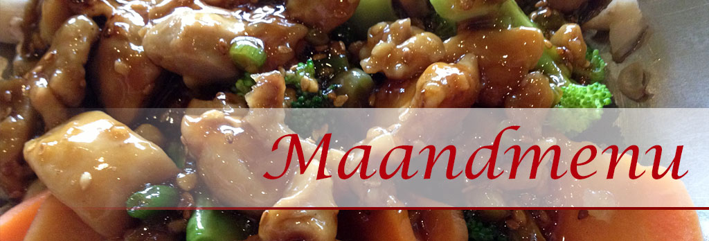 Chinees eten maandmenu oktober 2019