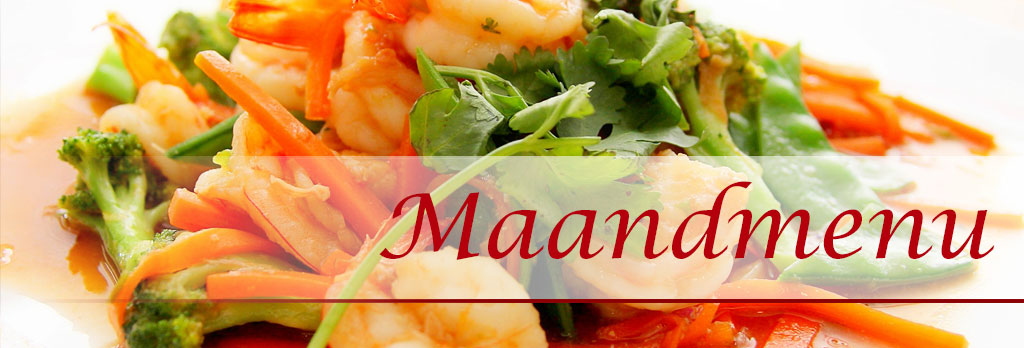 Chinees eten maandmenu november 2019