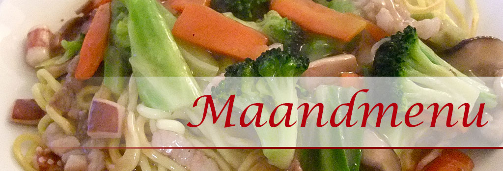 Chinees eten maandmenu december 2019